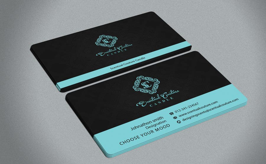 Konkurrenceindlæg #                                        32                                      for                                         Create business card for Scentual Couture Candle