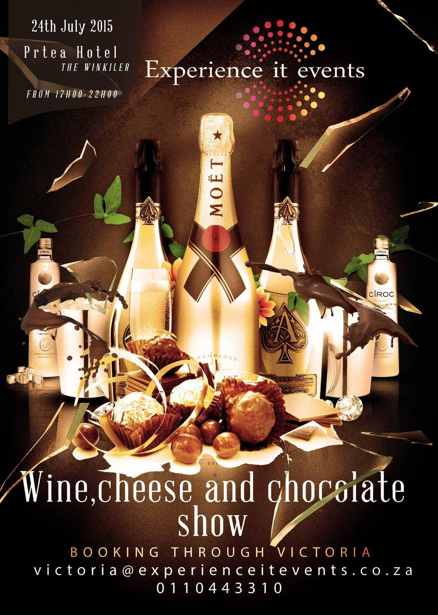 Konkurrenceindlæg #16 for Design a Flyer for wine,cheese and chocolate show