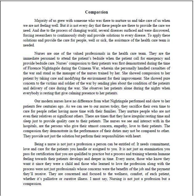 Kilpailutyö #12 kilpailussa Write an article about nurses