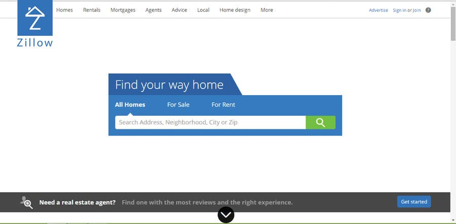 Proposition n°                                        1                                      du concours                                         Find Domainname and make Logo for real estate portal