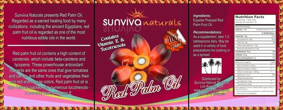 Kilpailutyö #7 kilpailussa Red Palm Oil Label