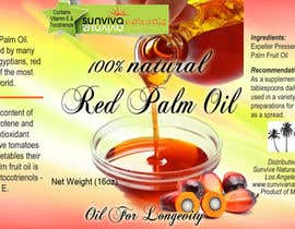 #4 para Red Palm Oil Label por RuxkyStudio