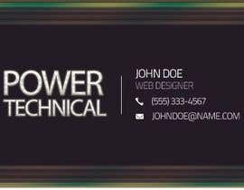 #12 untuk Design some Business Cards for Power technical oleh f0tis