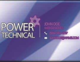 #16 untuk Design some Business Cards for Power technical oleh f0tis