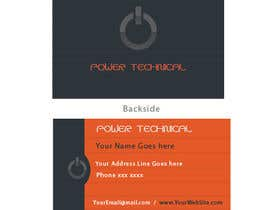 #20 untuk Design some Business Cards for Power technical oleh sergiovc
