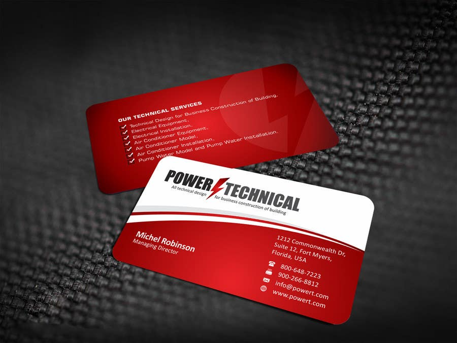 Entry 8 by ezesol for design some business cards for power contest entry 8 for design some business cards for power technical colourmoves