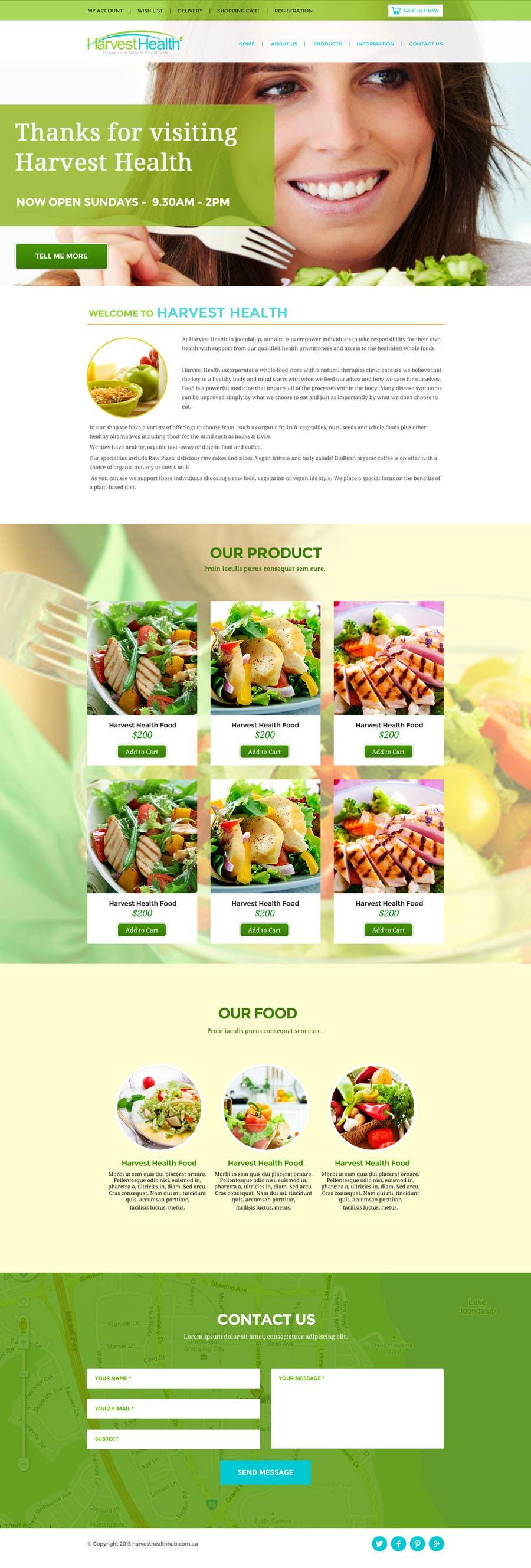 Konkurrenceindlæg #                                        2                                      for                                         Design a Website Mockup for A Health Food Shop