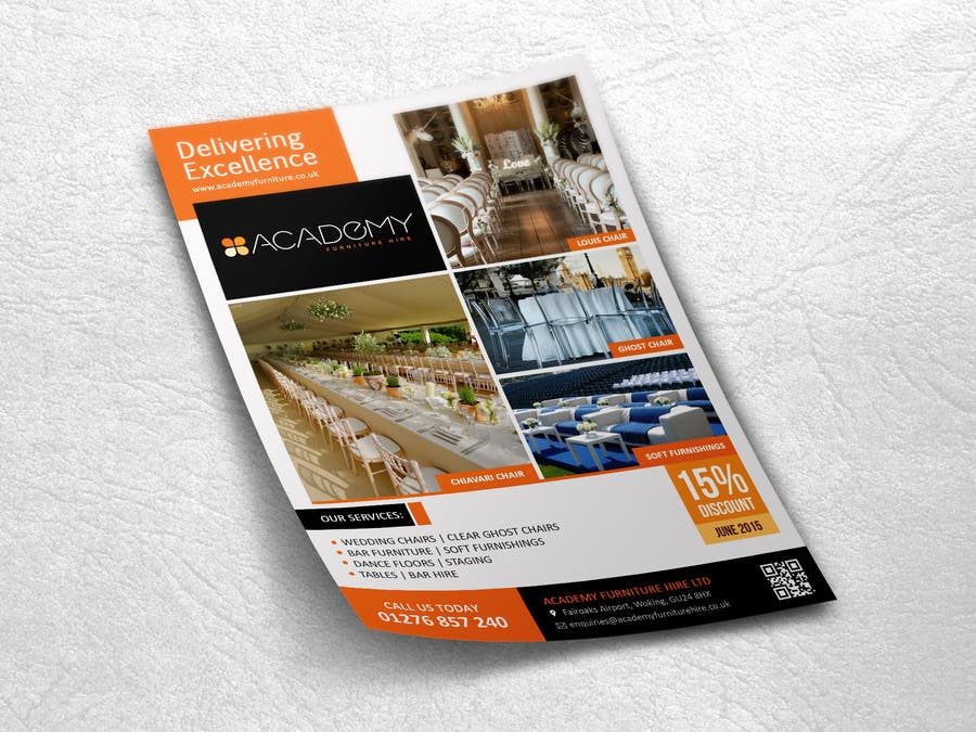 """Konkurrenceindlæg #                                        5                                      for                                         Wedding Show """"Product & Discount Flyer"""" - Academy Furniture Hire"""