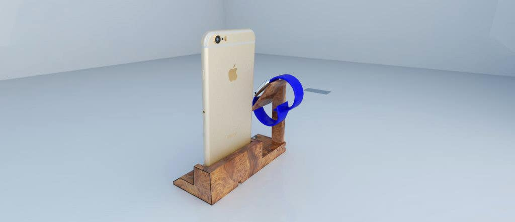 Bài tham dự cuộc thi #11 cho Design and Create a 3d iwatch wooden prototype