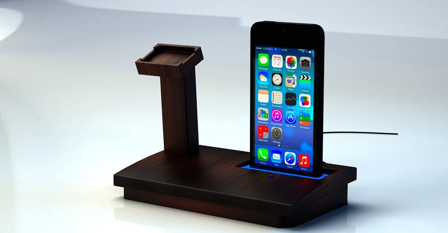 Bài tham dự cuộc thi #14 cho Design and Create a 3d iwatch wooden prototype