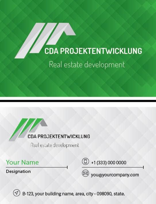 Konkurrenceindlæg #                                        1                                      for                                         Business Cards and Brochure Design for real estate company