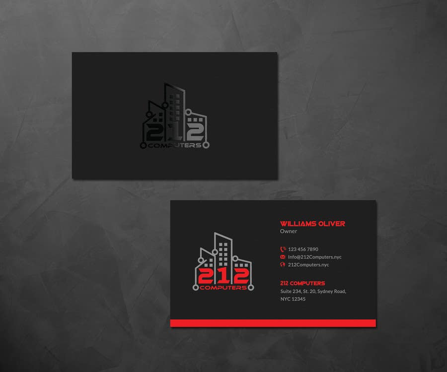 Contest Entry #39 for Design some Business Cards for 212 computers