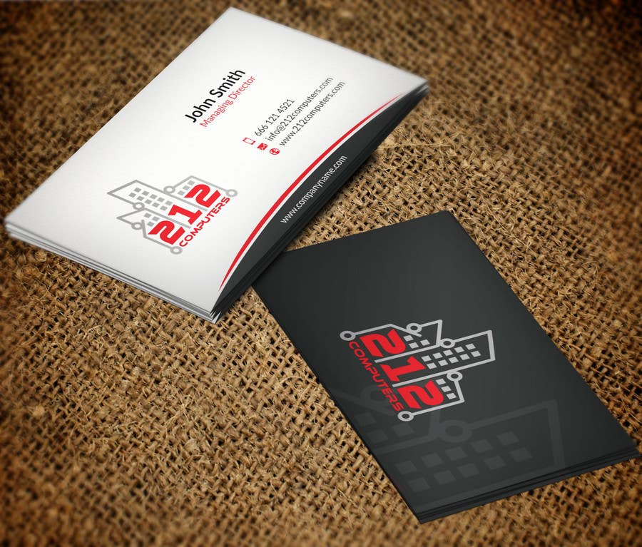Contest Entry #                                        30                                      for                                         Design some Business Cards for 212 computers