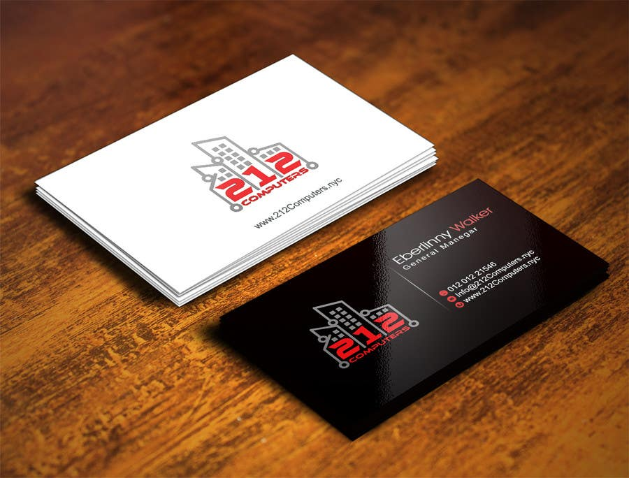 Contest Entry #                                        42                                      for                                         Design some Business Cards for 212 computers