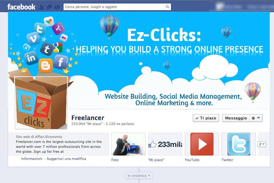 #22 for Design a Cool Banner For Ez-Clicks by holecreative