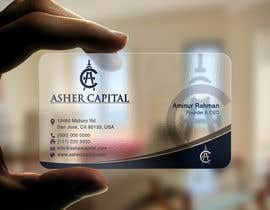 #157 para Design some Business Cards for Asher Capital por aminur33