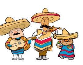 nº 7 pour Illustration of 3 Cartoon Mexican Guys par repramana