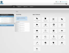 #9 for Design a Website Mockup for control panel menu af edgar318
