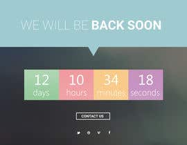 joshuacorby2014 tarafından Design a Coming Soon page for selling in Themeforest için no 29