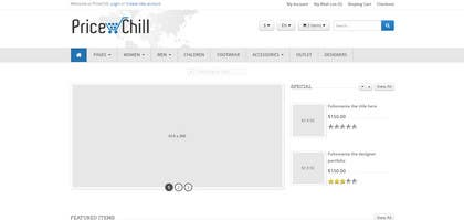 #2 for Design Inner Page PriceChill.com af WeakyRock