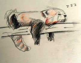 #6 para Draw 3 rough sketches/outlines (can be a picture of pencil on paper) of a Red Panda in fun poses por strangem