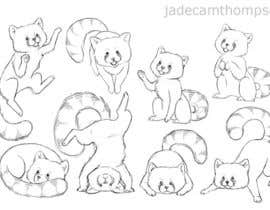 #2 para Draw 3 rough sketches/outlines (can be a picture of pencil on paper) of a Red Panda in fun poses por jadecamthompson