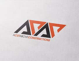 #68 for Logo for A Cut Above Constructions (ACAC) - Round 2 by markmael