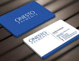 #29 untuk Design business card for Onesto Payments oleh Derard