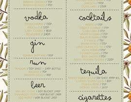 #4 untuk Design a drink menu for a bar oleh jembilee