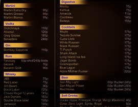 Nro 14 kilpailuun Design a drink menu for a bar käyttäjältä sumantechnosys