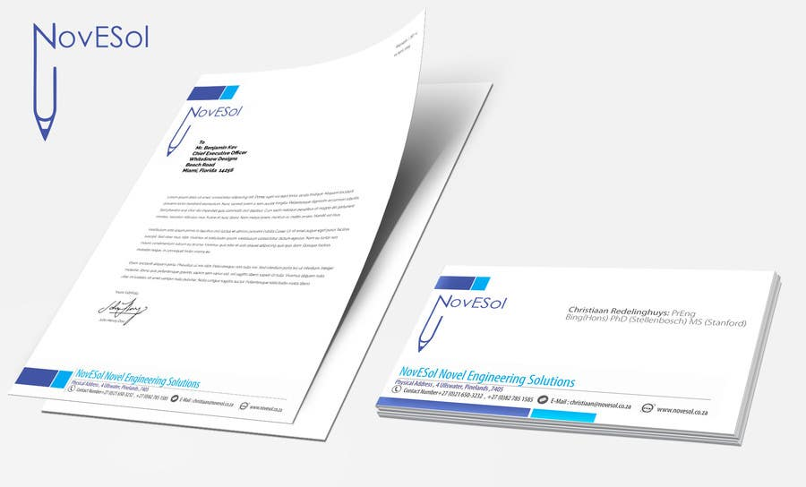 Entry #6 by binoysnk for Design a letterhead and business cards ...