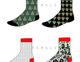 #37 untuk Sock Designs! Best 2 Designs (1 Male, 1 Female) Wins! oleh angelinatextile