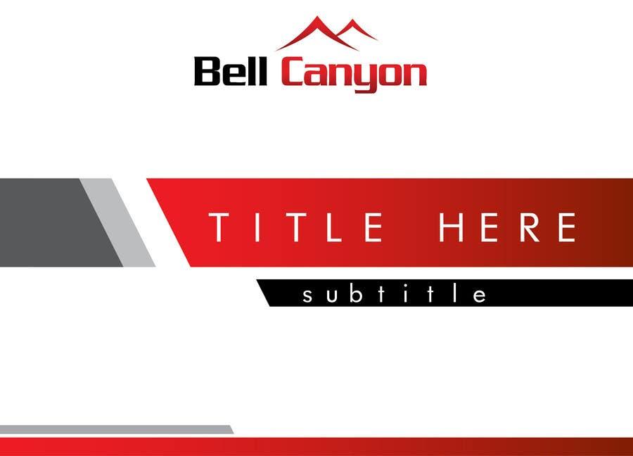 Penyertaan Peraduan #52 untuk Design Powerpoint Template for Bell Canyon Consulting
