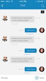 #36 untuk Design an App Mockup for chat app oleh ankisethiya