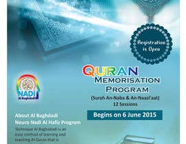 #12 cho Design a Flyer for Al Quran Memorisation Program bởi sandipdhanad