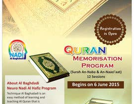 #13 cho Design a Flyer for Al Quran Memorisation Program bởi sandipdhanad