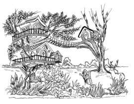 #12 for A Coloring Book of Tree Houses by Rahulbajad