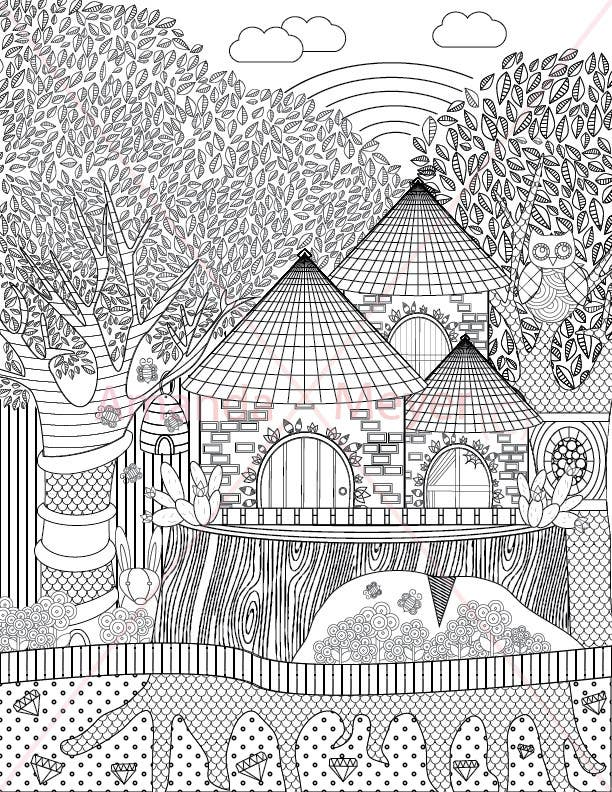 Konkurrenceindlæg #17 for A Coloring Book of Tree Houses