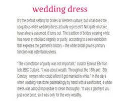 #7 for Write some Articles for Our bridal Shop in Sydney by inaali97