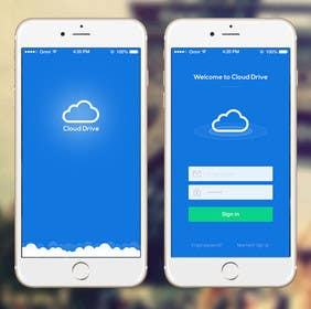 #5 untuk Cloud Drive App Screen Layout oleh ankisethiya