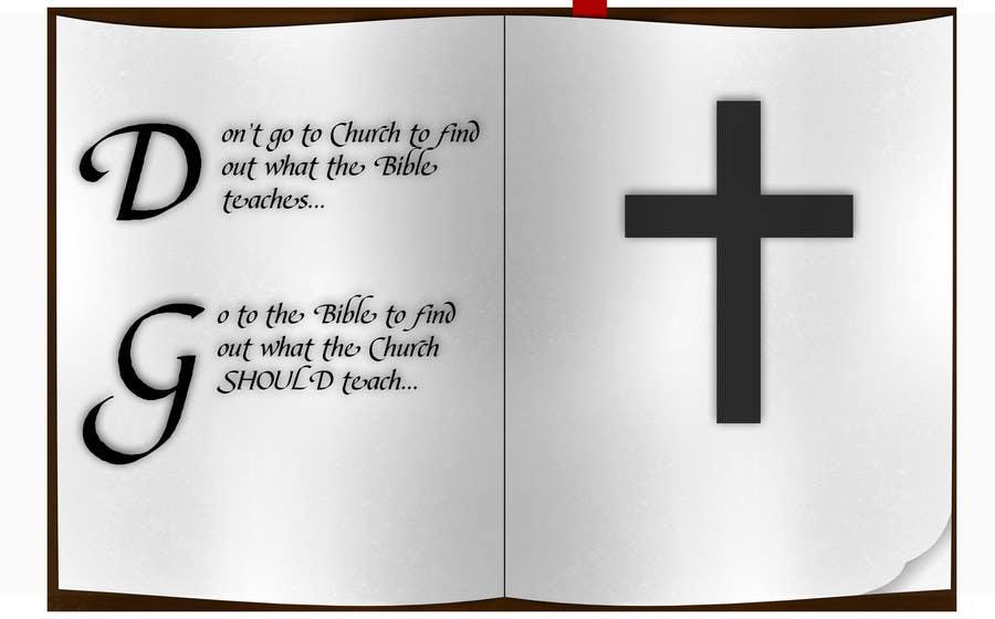 Konkurrenceindlæg #5 for T-shirt design   9x12.75 Bible/Church