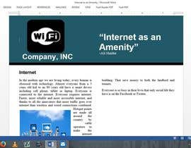 #1 cho Write an article about internet (wifi) as an amenity bởi alienigma392