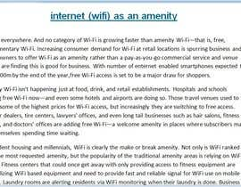 NaitikBhanusali tarafından Write an article about internet (wifi) as an amenity için no 14