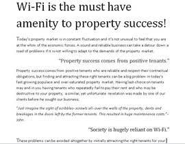 unavoidedspace tarafından Write an article about internet (wifi) as an amenity için no 7