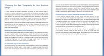 """Graphic Design Entri Peraduan #6 for Write an article about """"Choosing the Best Typography For Your Brochure Design"""""""