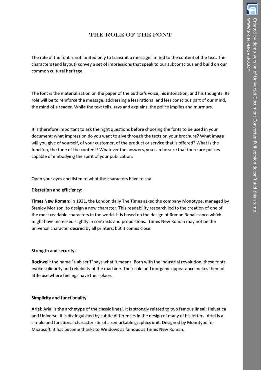 "Penyertaan Peraduan #3 untuk Write an article about ""Choosing the Best Typography For Your Brochure Design"""