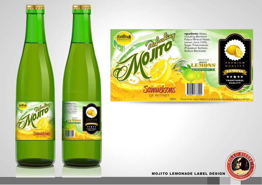 Kilpailutyö #1 kilpailussa Create Print and Packaging Designs for Soft Drink / Lemonade Bottle Label