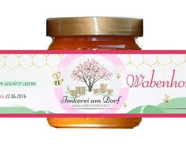 #6 untuk Design a bottle label (honey jar label) - Design eines flaschenetikett (honigglas etikett) oleh Serghii