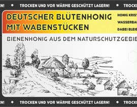 #19 for Design a bottle label (honey jar label) - Design eines flaschenetikett (honigglas etikett) af Serghii