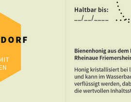 #25 untuk Design a bottle label (honey jar label) - Design eines flaschenetikett (honigglas etikett) oleh larissaditzel